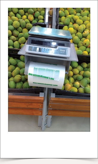 Weighing Scale cum Plastic Bag Dispenser unit